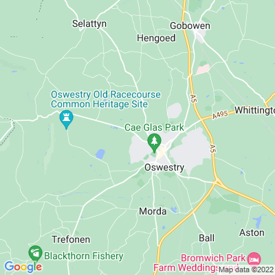 Hayes, The, Oswestry Location