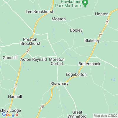 Moreton Corbet Location