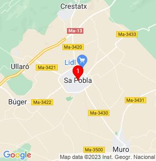 Google Map of Sa Pobla, Baleares, Spain