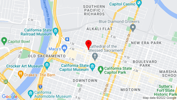 Google Map of Sacramento, CA