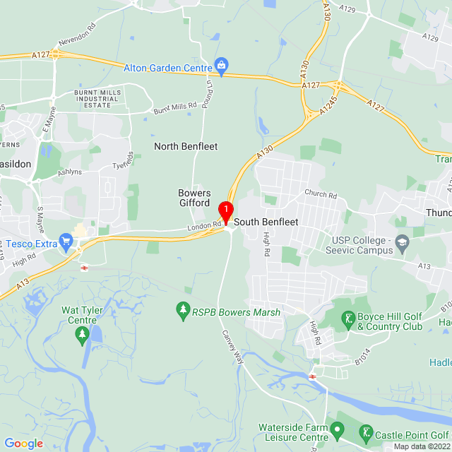 Google Map of Sadlers Farm, London Rd, Bowers Gifford, Basildon SS132HD