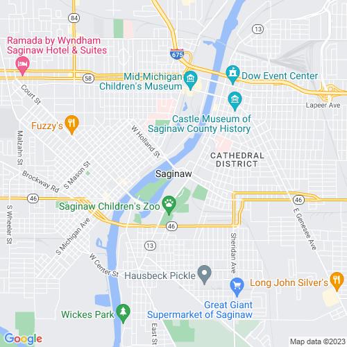 Map of Saginaw, MI