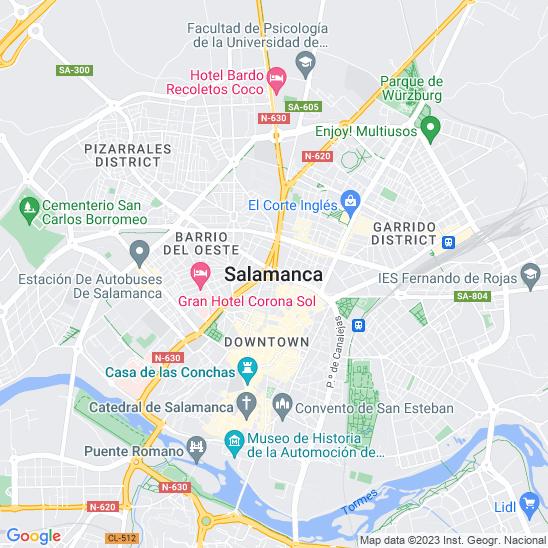 Mapa redondo Salamanca