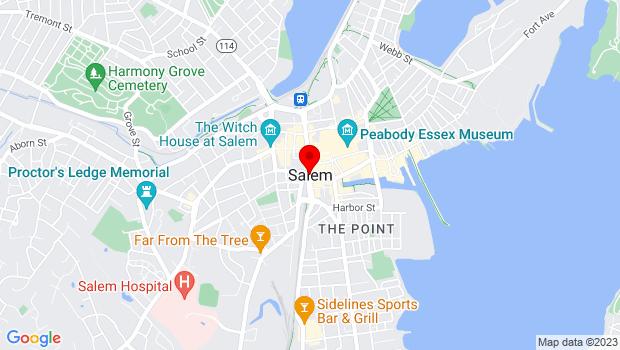 Google Map of Salem, MA