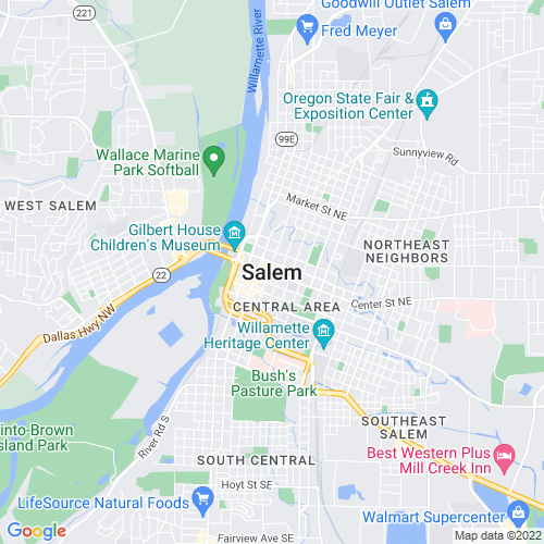 Map of Salem, OR