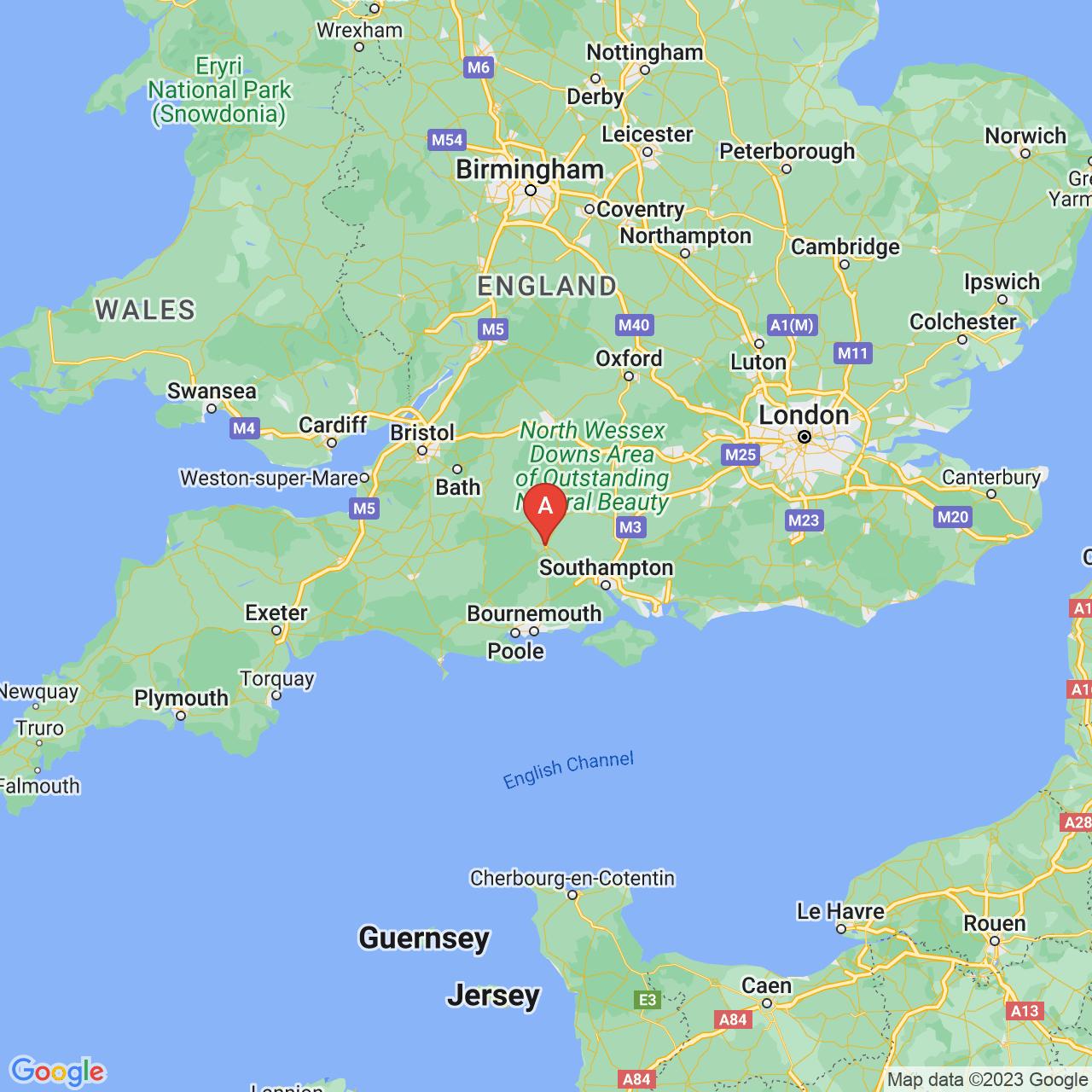 Salisbury, England Map