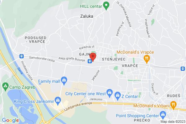 Google Map of Samoborska cesta 134 10090 Zagreb