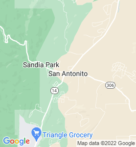 San Antonito NM Map