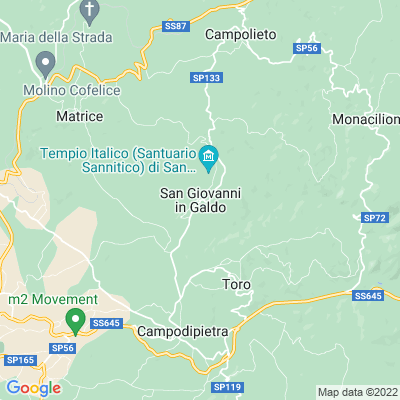 cartina San Giovanni In Galdo