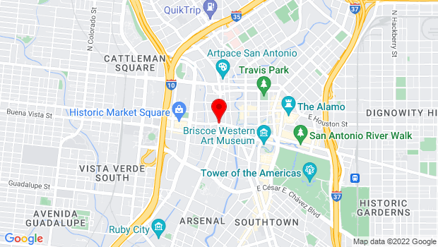 Google Map of San Antonio, TX