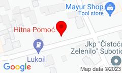 Google Map of Sandora Petefija 24, Subotica
