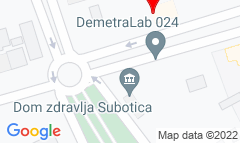 Google Map of Sandora Petefija 7, Subotica