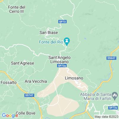 cartina Sant\'angelo Limosano