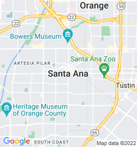 Santa Ana CA Map