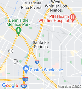 Santa Fe Springs CA Map