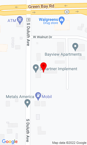 Google Map of Schartner Implement, Inc 862 S Duluth Ave, Sturgeon Bay, WI, 54235
