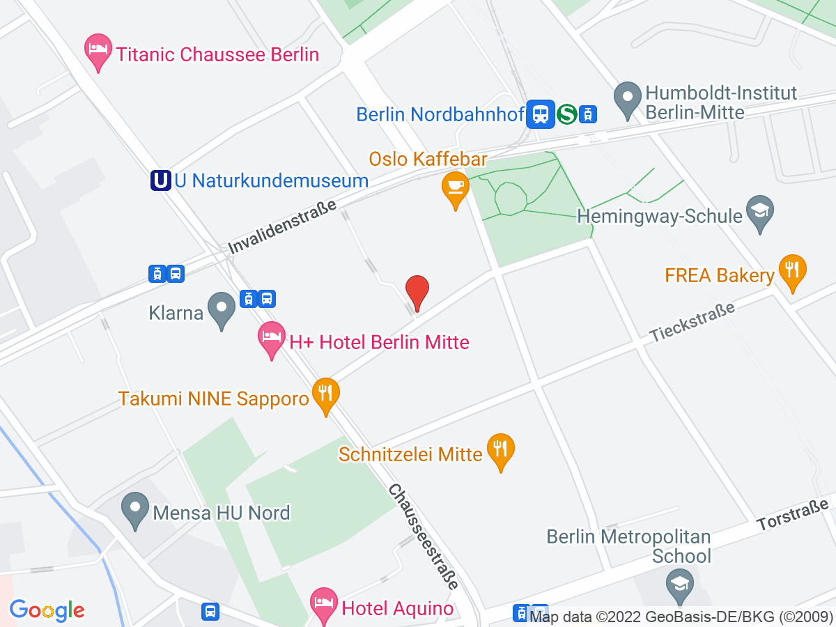 Google Map of Schlegelstraße 26, 10115 Berlin