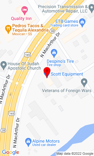 Google Map of Scott Equipment Company 3007 MacArthur Drive, Alexandria, LA, 71303,