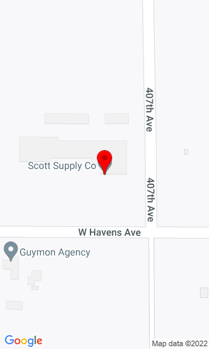 Google Map of Scott Supply Co. 2800 West Havens, Mitchell, SD, 57301,