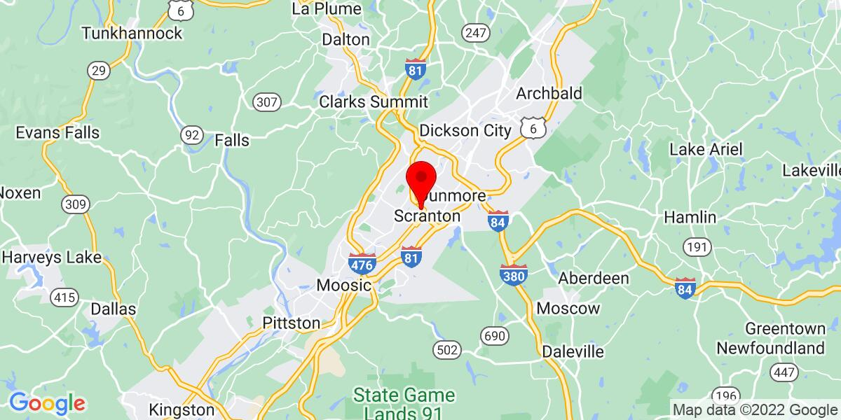 Google Map of Scranton, PA