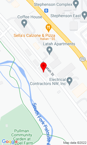 Google Map of Pullman Rentals, Inc. Se 1105 Latah, Pullman, WA, 99163