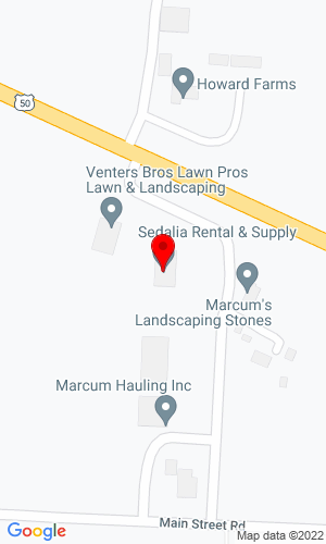 Google Map of Sedalia Rental And Supply 21474 West Highway 50, Sedalia, MO, 65301