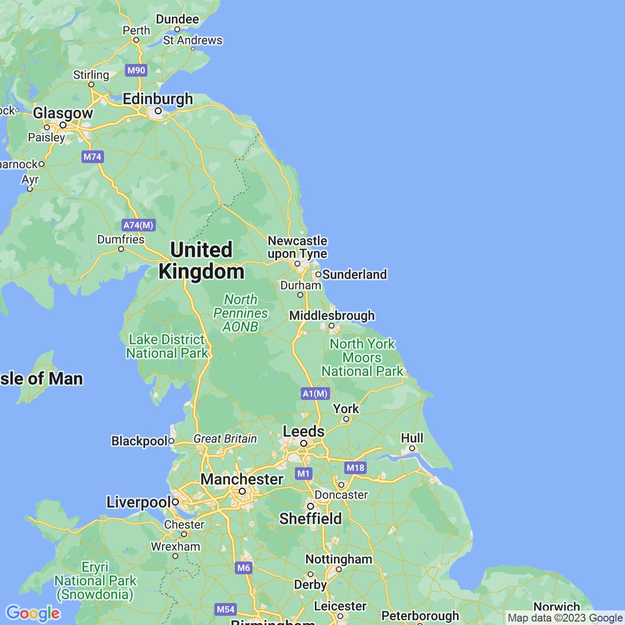 Sedgefield, England Map