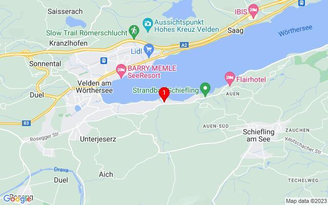 Routenplaner Seecorso+39,+9220+Velden+am+Wörthersee
