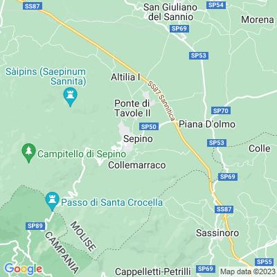 cartina Sepino