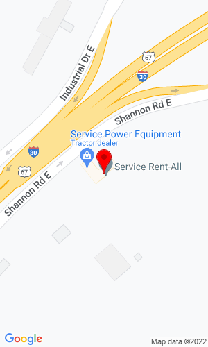 Google Map of Service Rental All 1411 Shannon Rd E, Sulphur Springs, TX, 75482