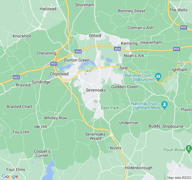 Website Designer Sevenoaks Google map of location