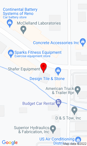 Google Map of Shafer Equipment Co., Inc. 955 Greg Street, Reno, NV, 89431