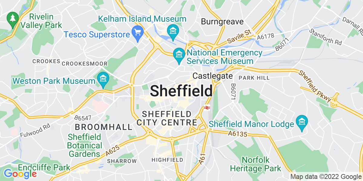 Map: Project Manager - Software job role in Sheffield