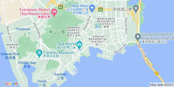 Google Map of Shekou+Xinjie%2C+Nanshan+District%2C+Shenzhen+518067
