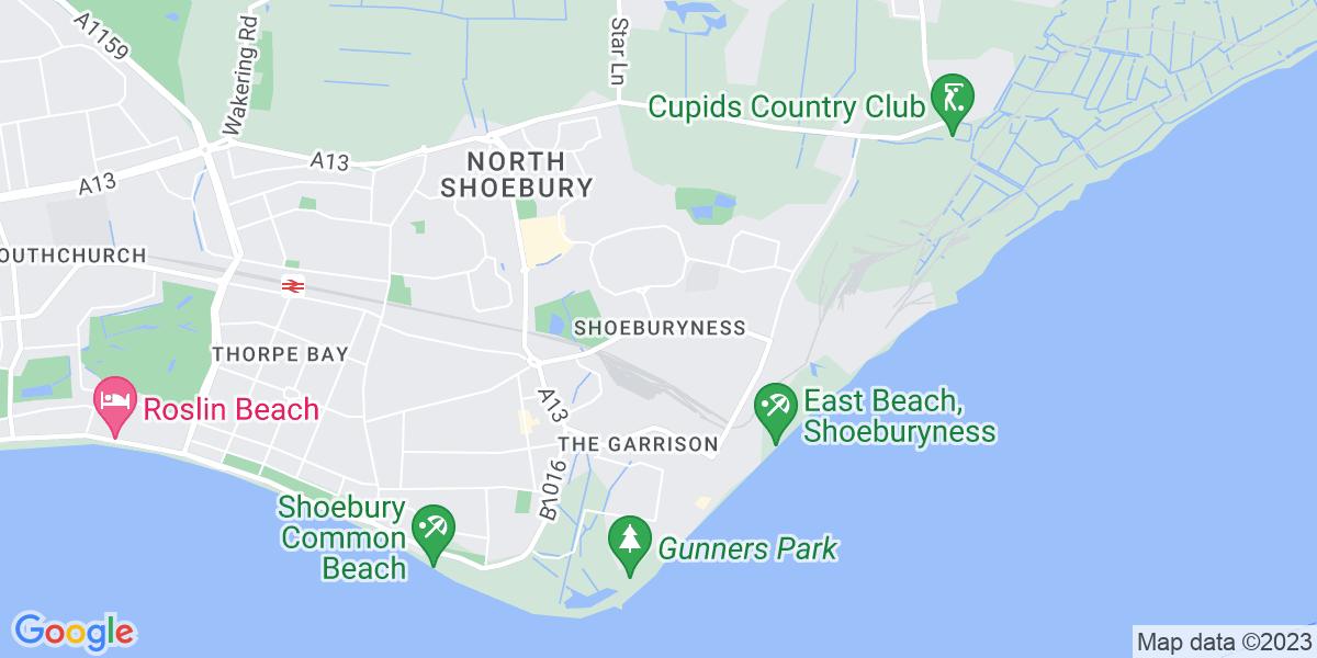 Map: Buyer job role in Shoeburyness