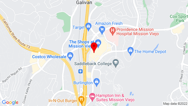 Google Map of Shop 47-555 The Shop BLV, Mission Viejo, CA 92691