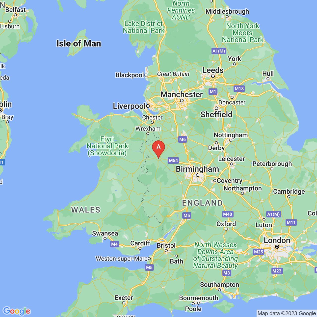 Shrewsbury, England Map