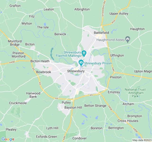 Website Designer Shrewsbury Google map of location
