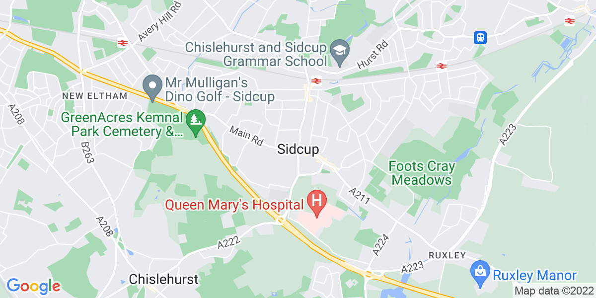 Map: Quantity Surveyor job role in Sidcup