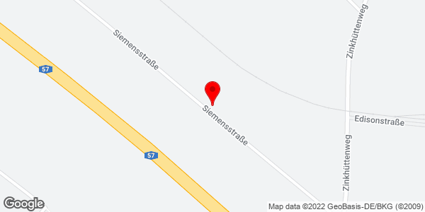 Google Map of Siemensstraße 14, 41542 Dormagen