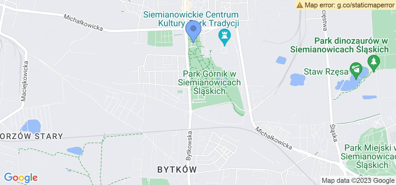 Jedna z ulic w Siemianowicach Śląskich – Oświęcimska i mapa dostępnych punktów wysyłki uszkodzonej turbiny do autoryzowanego serwisu regeneracji