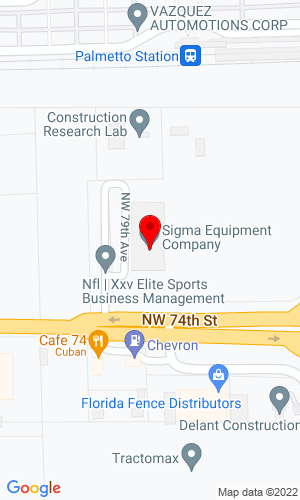 Google Map of Sigma Equipment 7400 NW 79th Avenue, Miami, FL, 33166