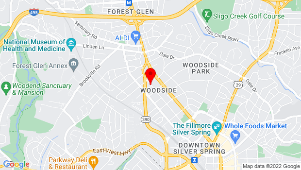 Google Map of Silver Spring, MD 20910