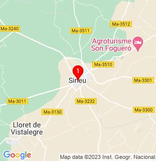 Google Map of Sineu, Baleares, Spain