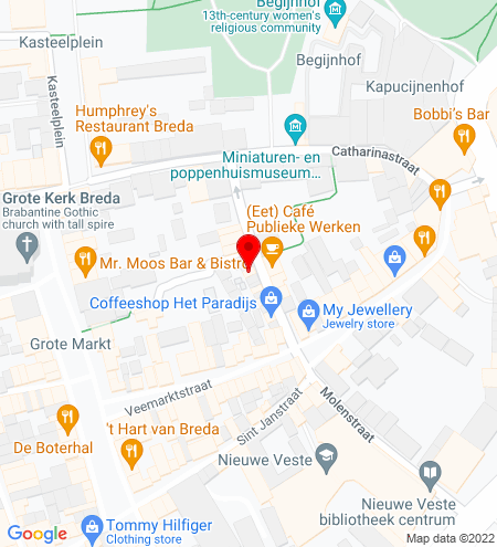 Google Map of Sint Annastraat 17 4811 XK Breda