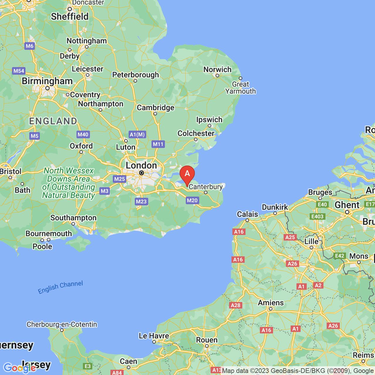 Sittingbourne, England Map