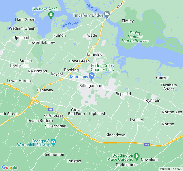 Website Designer Sittingbourne Google map of location