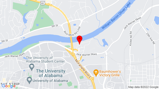 Google Map of Sixth Avenue and Capstone Drive, Tuscaloosa, AL 35487
