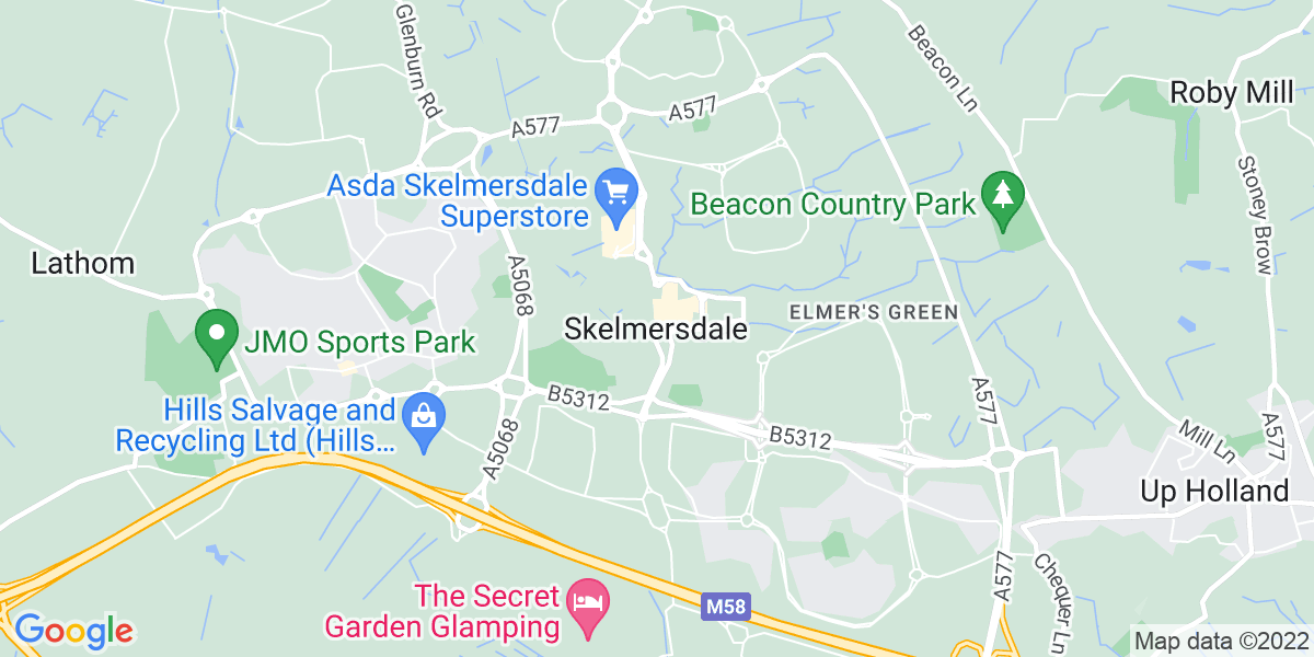 Map: Production operative - night shifts job role in Skelmersdale