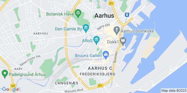 Et kort over Det Jyske Musikkonservatorium
